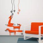 vulpi-autocolant-de-perete-foxes-wall-sticker