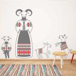 capra-cu-trei-iezi-autocolant-decorativ-de-perete-wall-sticker-1